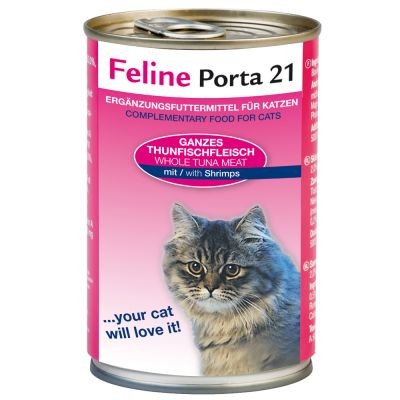 Feline Porta 21 Tuna with Shrimps 90 g, 400 g, 156 g test