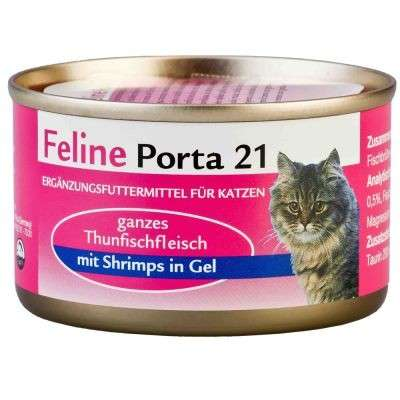 Feline Porta 21 Tuna with Shrimps 156 g 4021158047453