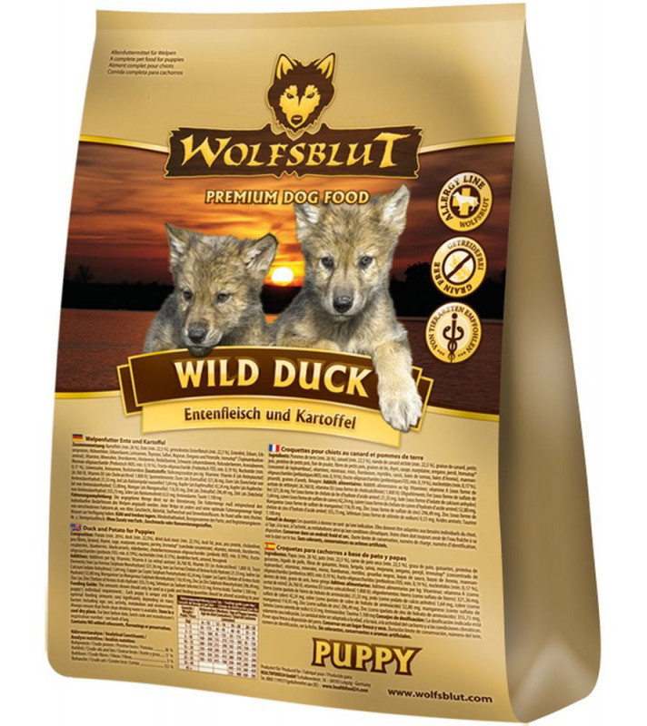 Wolfsblut Wild Duck Puppy duck meat and potatoes 7.5 kg, 500 g, 2 kg, 15 kg