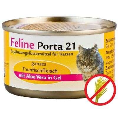 Feline Porta 21 Tuna & Aloe 90 g 4021158047293 anmeldelser