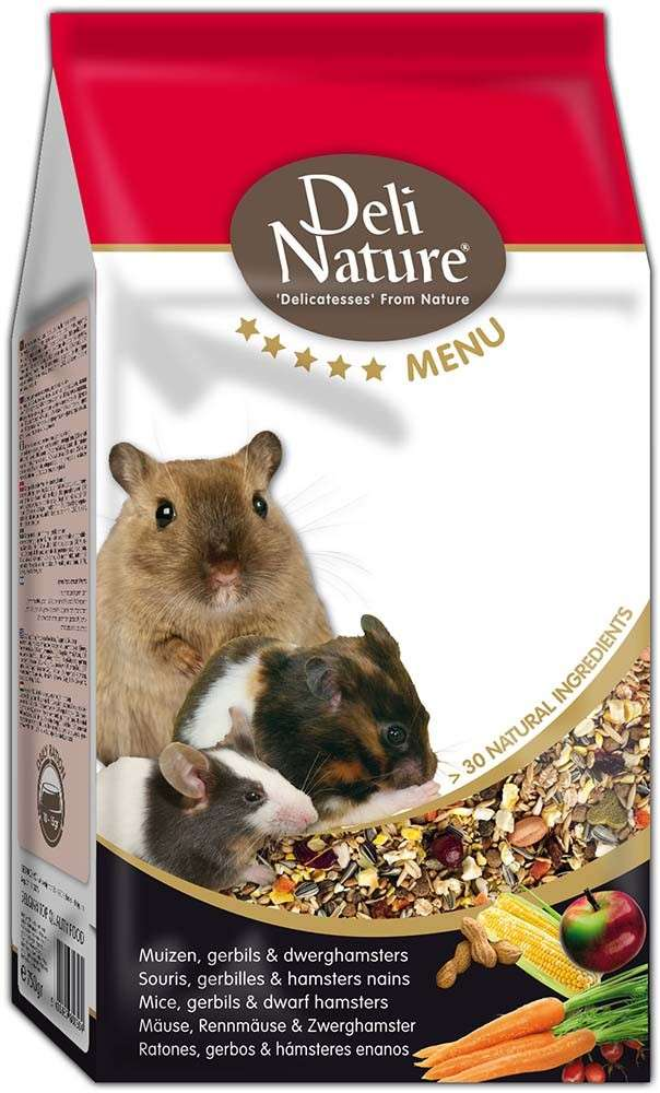 Deli Nature 5 Star menu - mouse, pygmy gerbille and pampas gerbils. 750 g