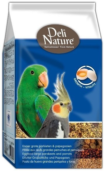 Deli Nature Eggfood Large Parakeets and Parrots 800 g 5411860803024 erfaringer