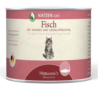 Herrmann's  Fish with Shrimps and Green lipped mussels, Can 200 g