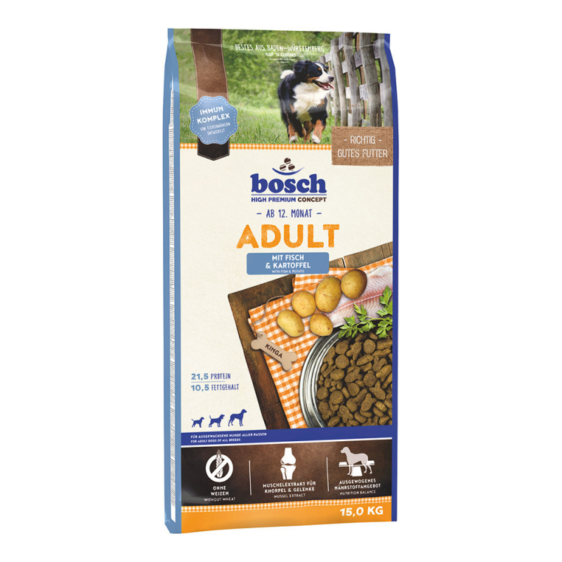 Bosch High Premium Concept - Adult with Fish & Potato 1 kg, 3 kg, 15 kg