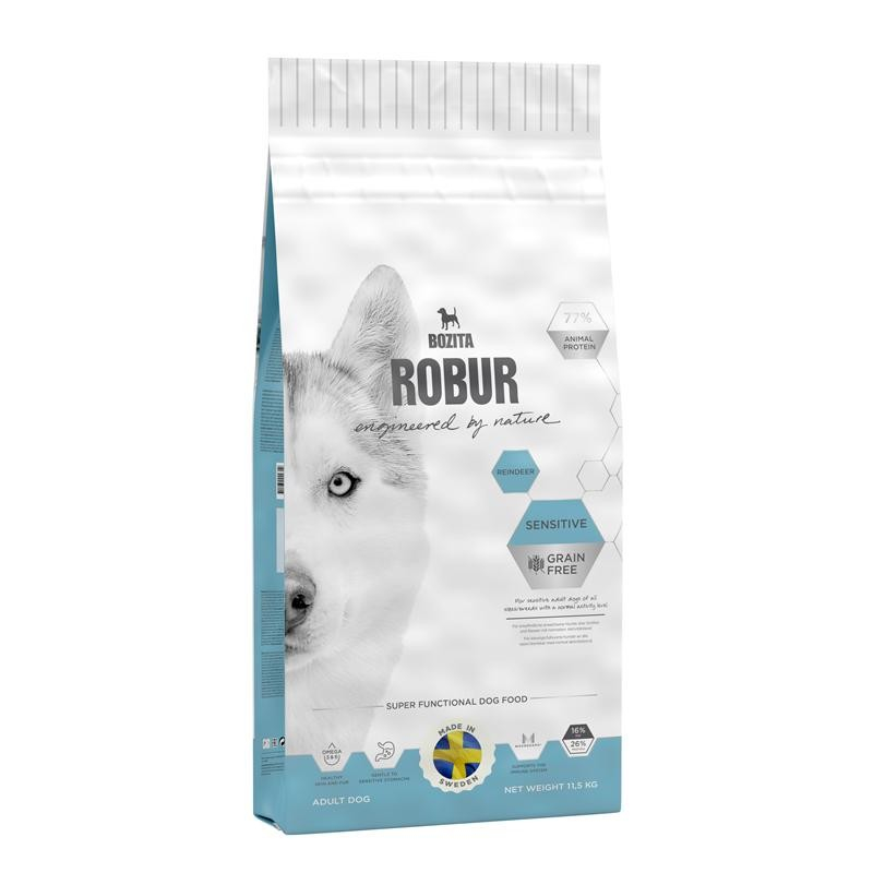 Bozita Robur Sensitive Grain Free Reindeer 11.5 kg 7311030242111