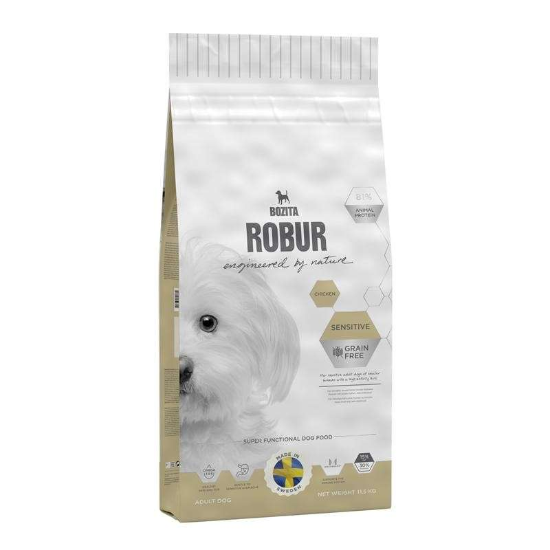 Bozita Robur Sensitive Grain Free Chicken 950 g, 3 kg, 11.5 kg, 1.25 kg, 3.2 kg