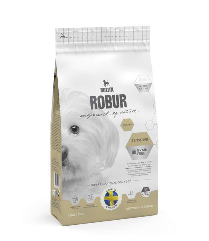 Bozita Robur Sensitive Grain Free Chicken 950 g, 3 kg, 11.5 kg, 1.25 kg, 3.2 kg osta edullisesti
