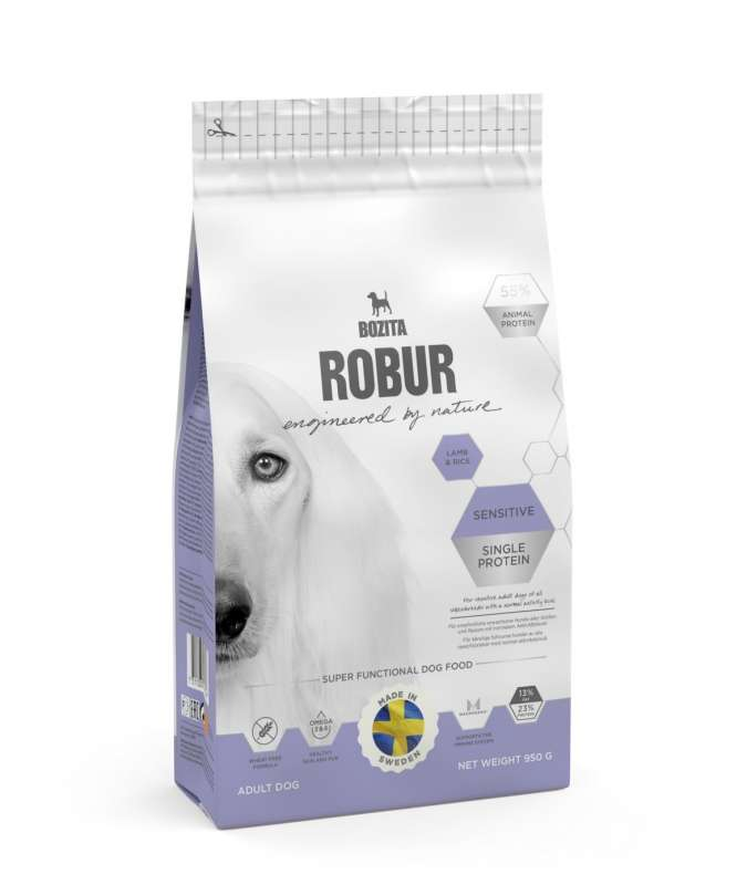 Bozita Robur Sensitive Single Protein Lamb & Rice 12.5 kg, 3 kg, 950 g