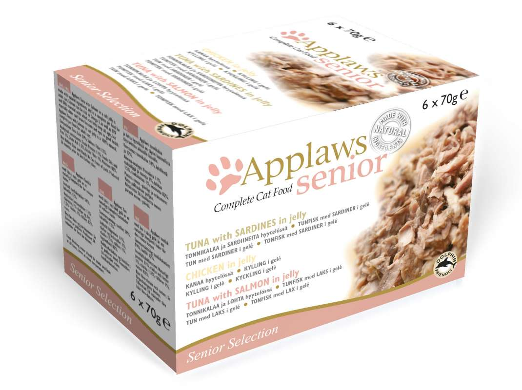 Applaws Senior Complete Cat Food in Jelly Multipack 6x70 g 5060333439170