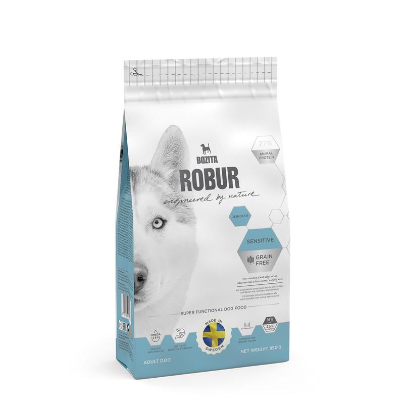Bozita Robur Sensitive Grain Free Reindeer 950 g 7311030241114