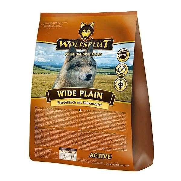 Wolfsblut Wide Plain Active  Paardenvlees met Zoete Aardappelen Kruiden en Bosvruchten 15 kg, 2 kg, 500 g