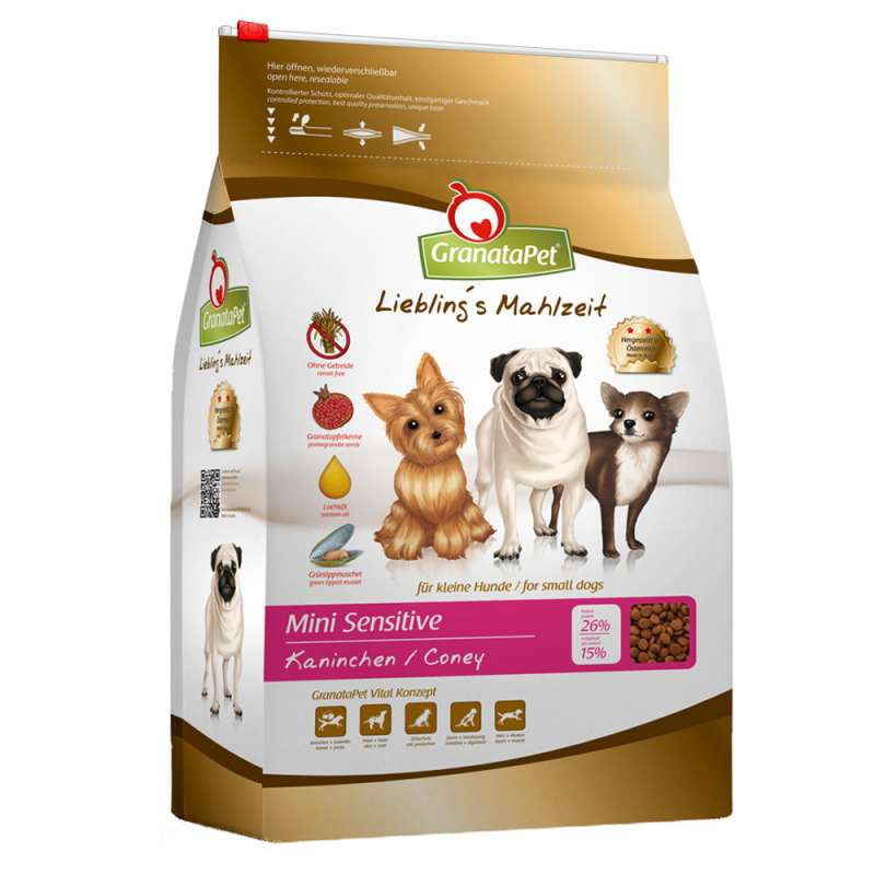 GranataPet Lieblings Mahlzeit Mini Sensitive Rabbit and Potato 2 kg