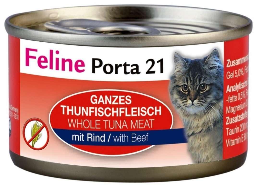 Feline Porta 21 Feline Porta 21 Blikje Tonijn met Rund 90 g