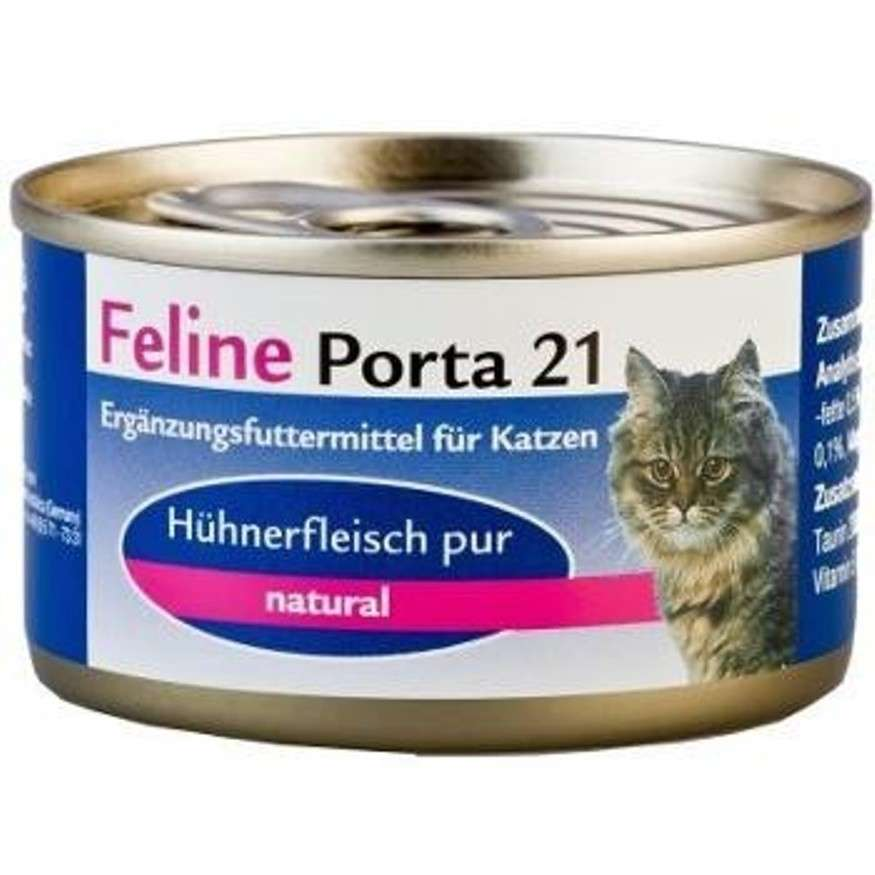 Feline Porta 21 Felino Porta 21 Pollo puro en piezas enteras 90 g