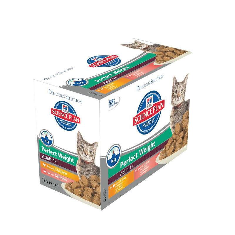 Hill's Science Plan Feline Perfect Weight Adult 1+ Multipack 12x85 g osta edullisesti