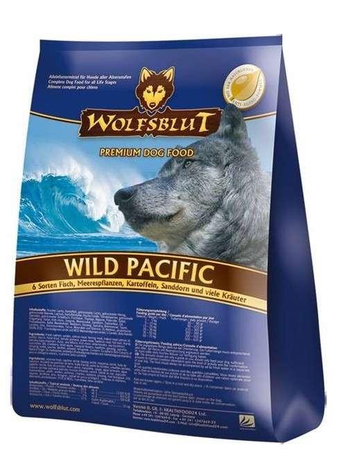 Wolfsblut Wild Pacific 6 tipos de peces, plantas acuáticas,patatas,espino amarillo y hierbas 500 g, 2 kg, 15 kg