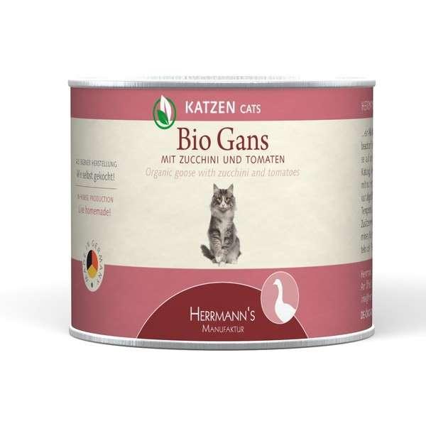 Herrmann's  Bio - Gans met Courgette en Tomaten, Blikje 200 g 4047459007514