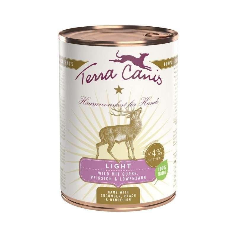Terra Canis Light Menu, Wild met Komkommer, Perzik & Paardebloem 400 g 4260109621261