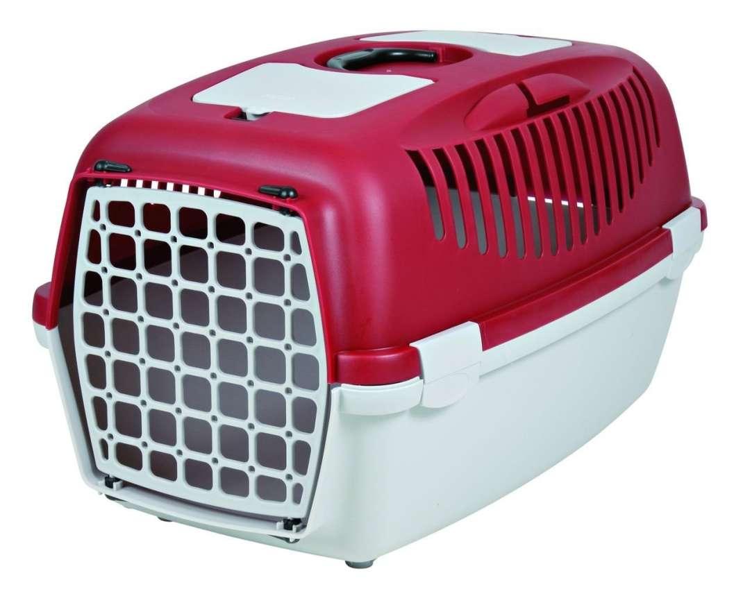 Trixie Transportbox Kat Capri, Licht grijs/rood 37x34x55 cm  met korting aantrekkelijk en goedkoop kopen