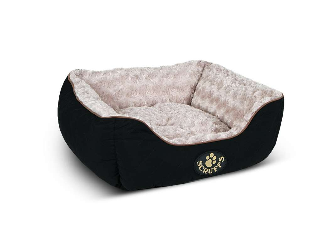 Scruffs Wilton Box Dog Bed Schwarz L