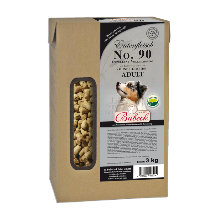 Bubeck No 90 Duck meat with Potato 3 kg order cheap