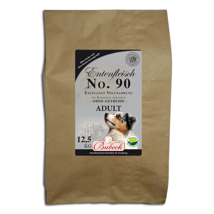 Bubeck No 90 Duck meat with Potato 3 kg, 6 kg, 12.5 kg, 1 kg