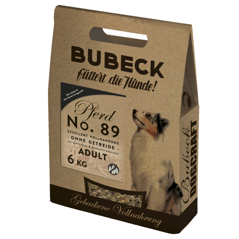 Bubeck No 89 Horse meat with Potato 12.5 kg, 1 kg, 3 kg, 6 kg