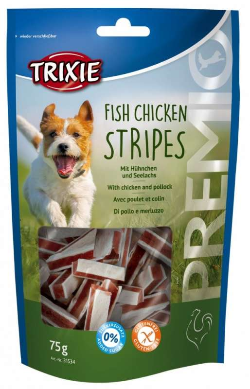 Trixie Premio Fish Chicken Stripes con Pollo e Merluzzo 75 g