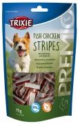 Premio Fish Chicken Stripes avec Poulet & Lieu noir 75 g