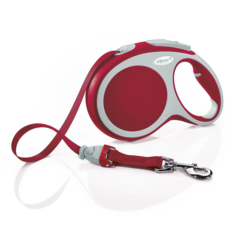 Flexi Vario Tape Leash  Röd M/5m