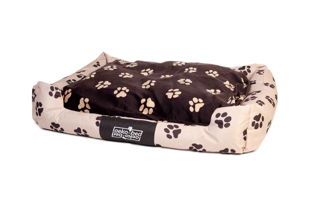 "Pakmas ""Oeko-Bed"" Double-Sided Dog Cushion in Plush  Beige S"