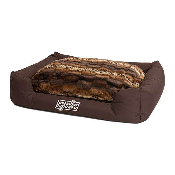 "Pakmas ""Oeko-Bed"" Double-Sided Dog Cushion in Plush  Mörkbrun S"