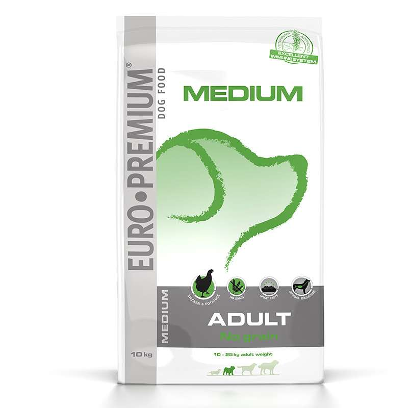 EURO-PREMIUM Medium Adult No Grain 2.5 kg, 10 kg