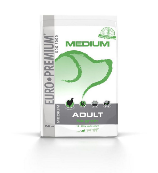 EURO-PREMIUM Medium Adult No Grain 2.5 kg 5411860804700