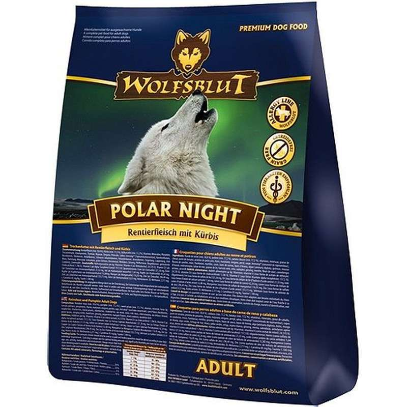 Wolfsblut Polar Night Adult Rendiervlees en Pompoen 15 kg, 2 kg, 500 g, 7.5 kg