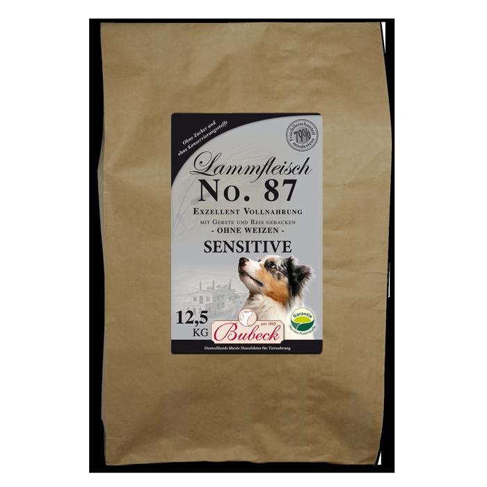 bubeck no 87 lammfleisch sensitive 12 5 kg hundefutter f r allergiker. Black Bedroom Furniture Sets. Home Design Ideas
