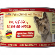 MAC's Feinschmecker Menü - Beef, Poultry with Zucchini & Noodles canned Art.-Nr.: 20214