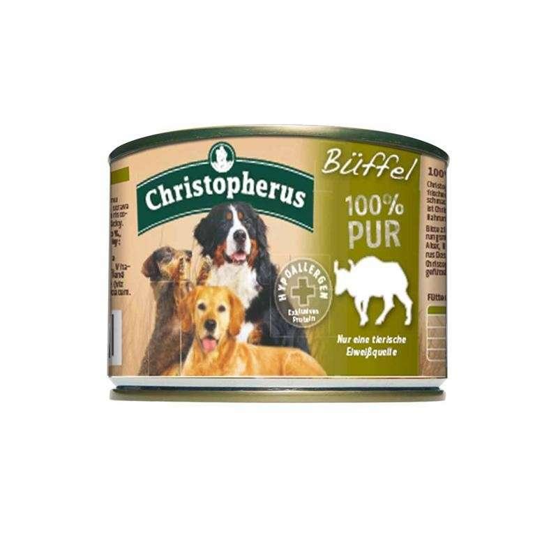Christopherus Fleischmahlzeit  - 100% Pure Buffalo Can 200 g, 400 g