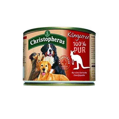 Christopherus Fleischmahlzeit - 100% Puur Kangoeroe Blikje 200 g 4005784076919