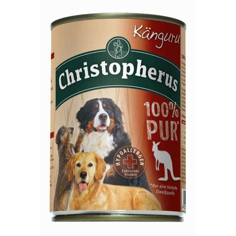 Christopherus Fleischmahlzeit  - 100% Puur Kangoeroe Blikje 400 g 4005784076919