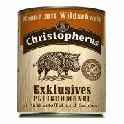 Christopherus Exklusives Vådfoder - Vildsvin med sød kartoffel og tranebær 800 g