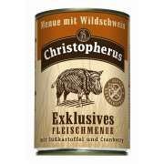 Christopherus Exclusive Meat Menu - Wild boar, Sweet potato and Cranberry Can Art.-Nr.: 2914