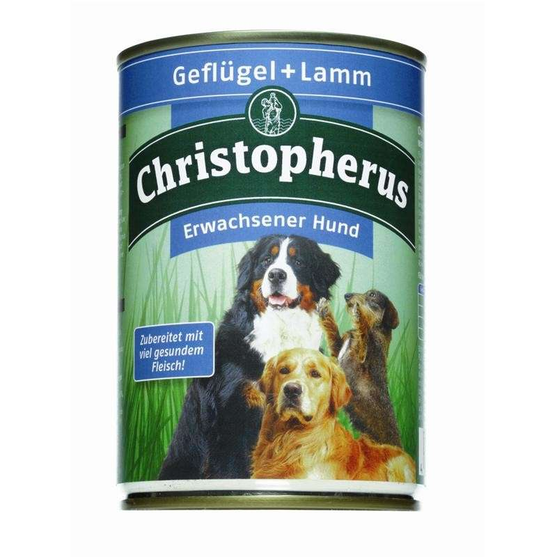 Christopherus Adult Dog – Poultry & Lamb Can 800 g, 400 g