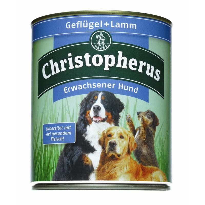 Christopherus Adult Dog – Poultry & Lamb Can 800 g