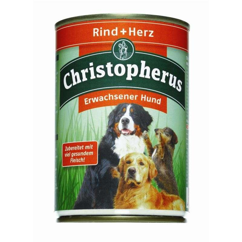 Christopherus Adult Dog – Beef & Heart Can 400 g, 800 g