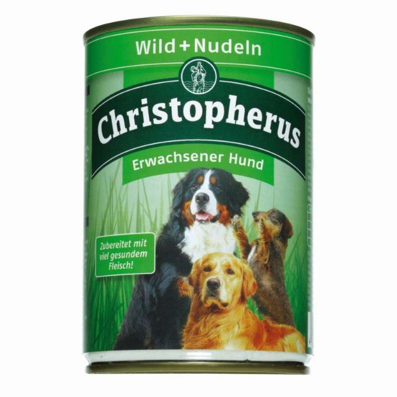 Christopherus Adult Dog – Game Meat + Pasta Can 400 g 4005784076056 erfaringer