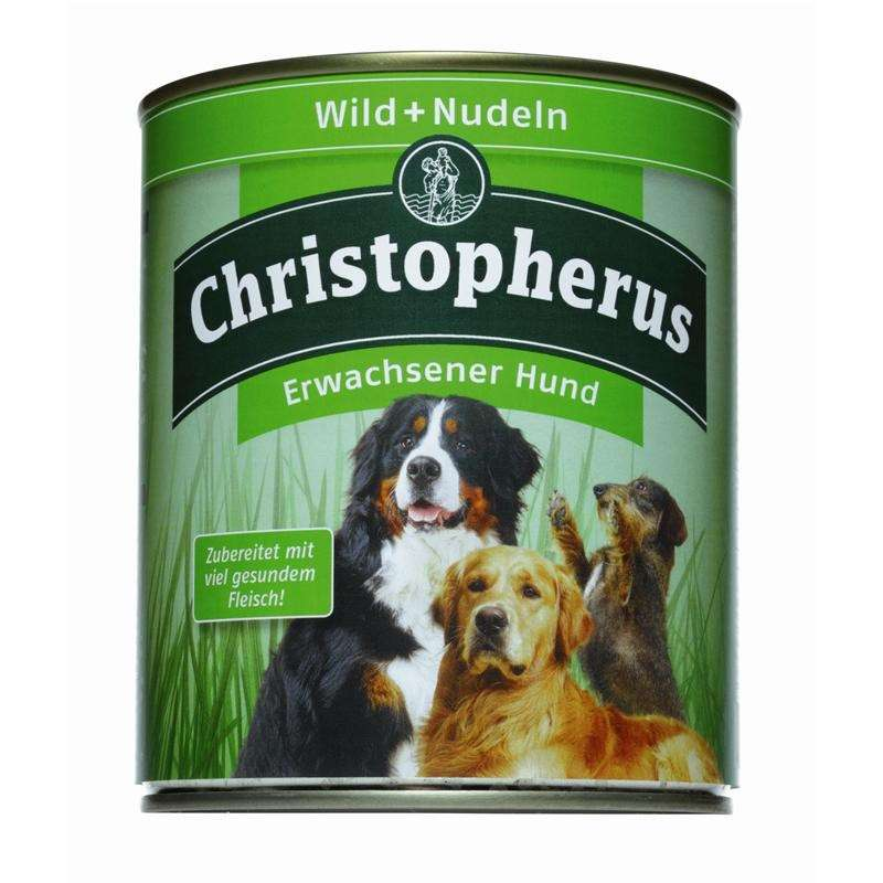 Christopherus Adult Dog – Game Meat & Pasta Can 800 g, 400 g kjøp billig med rabatt