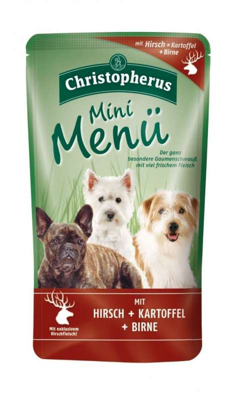 Christopherus Mini Menu - Deer, Potato & Pear Pouch 125 g kjøp billig med rabatt