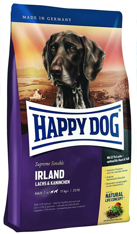 Happy Dog Supreme Sensible Irland com Salmon & Coelho 300 g, 12.5 kg, 1 kg, 4 kg, 10 kg