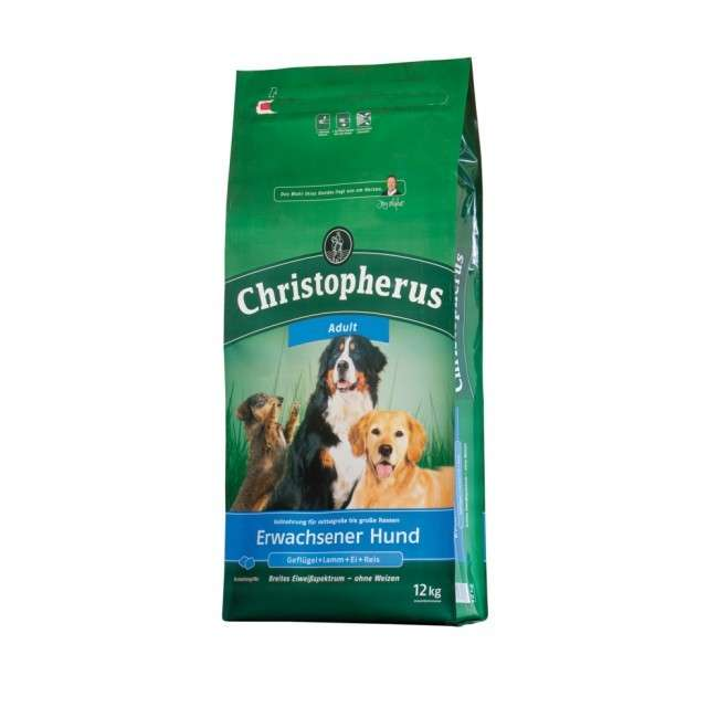 Christopherus Adult Dog - Poultry, Lamb, Eggs & Rice 1.5 kg, 12 kg, 4 kg kjøp billig med rabatt